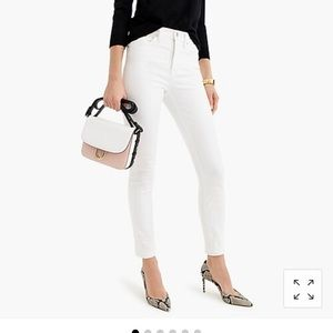 """J. Crew 9""""high-rise toothpick jean in white 31/12"""